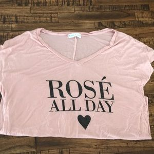 Rose All Day loose fitting, short sleeve shirt